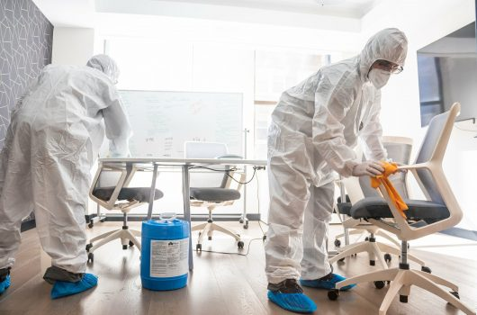 disinfecting cleaning in st louis mo by dash maids workers